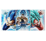 Tableau 3 Toiles Dragon Ball