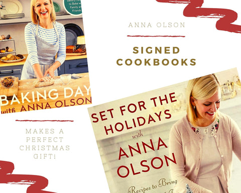 ANNA OLSON SIGNED COOKBOOKS