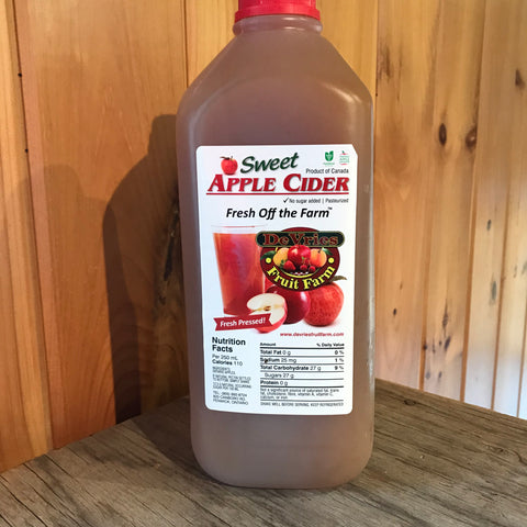 Apple Cider -contains preservatives