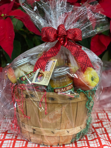 1/2 Peck Fruit Basket with Preserves