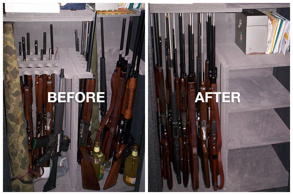 The Guns Were Stored In A Small Homemade Gun Cabinet And Closets Around The  House.