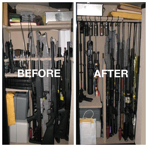 rifle rods long gun storage short guns, tactical rifle, how to store short guns with rifle rods