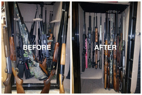 rifle rods long gun storage short guns ar ak rifles