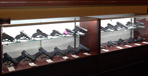 Freedom Firearms Pistol Display With Kikstands