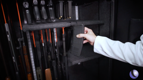 PMAG AR gun magazine storage rack