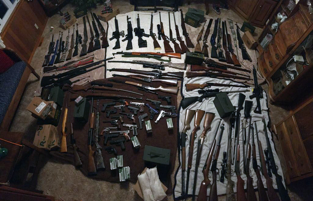 B's gun collection