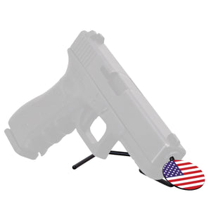 handgun prop with flag