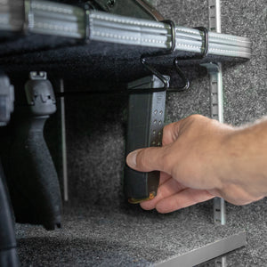 gun safe magazine rack