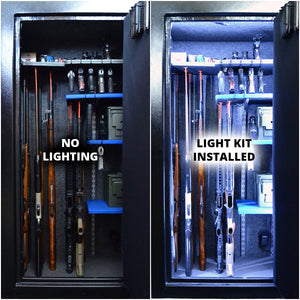 gun safe light kit before and after