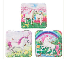Load image into Gallery viewer, Unicorn handbag/pocket mirror (square)