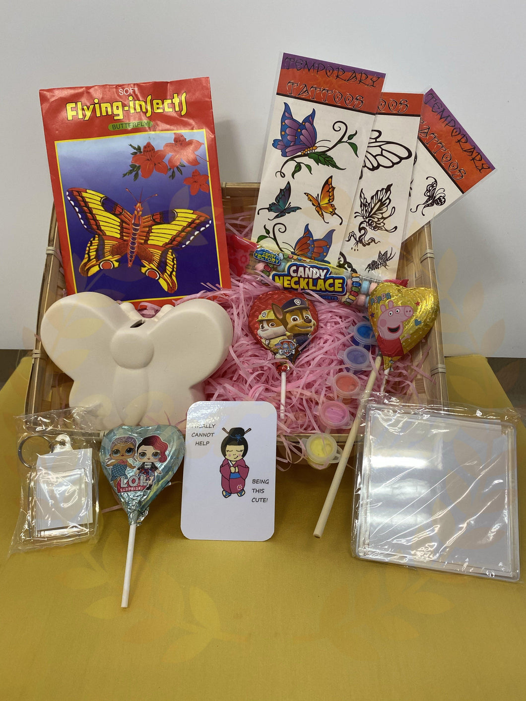Paint Your Own BUTTERFLY Money Box Gift Hamper INCLUDES UK POSTAGE - Send to a Friend UK