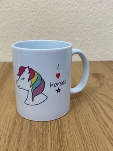 MUG - I ❤️ HORSES - Send to a Friend UK