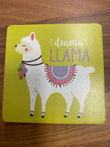Llama Coasters.  Sold singularly or as a Set of 4