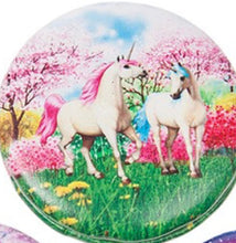 Load image into Gallery viewer, Unicorn handbag/pocket mirror (round)