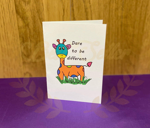 Giraffe greetings card - Send to a Friend UK