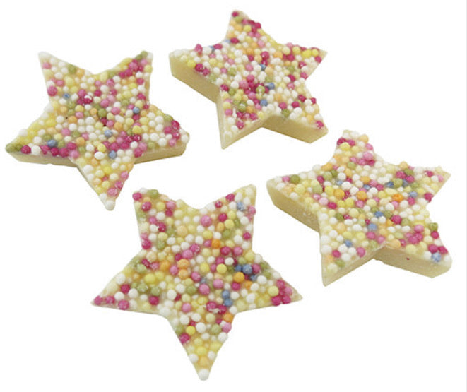 White chocolate Stars - Send to a Friend UK