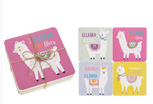 Load image into Gallery viewer, Llama Coasters.  Sold singularly or as a Set of 4
