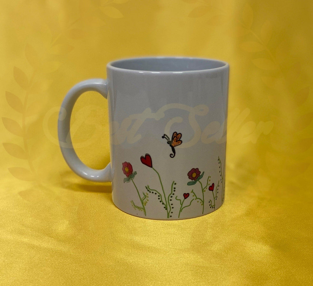 Butterfly flower meadow style Mug - Send to a Friend UK