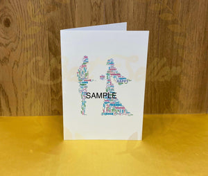 PERSONALISED WORD ART as A6 card UK POSTAGE INCLUDED - Send to a Friend UK