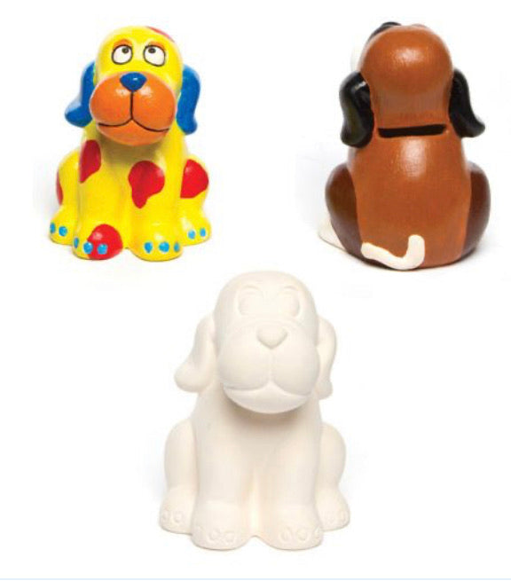 Paint your own DOGGY Money Box FREE UK POSTAGE - Send to a Friend UK