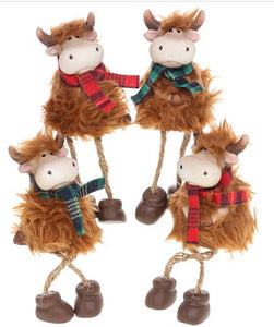 Highland Cow dangly legs