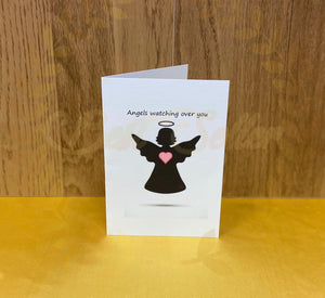Angel silhouette greetings card - Send to a Friend UK