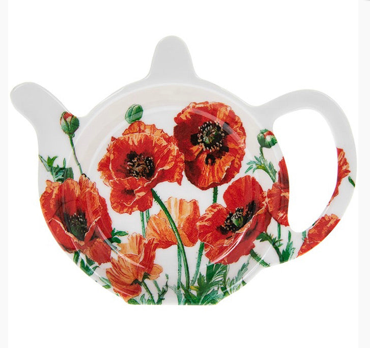 Poppy tea bag holder/ spoon rest - Send to a Friend UK