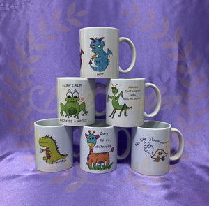 ANIMAL themed mugs UK POSTAGE INCLUDED - Send to a Friend UK