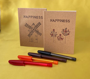 Happiness Notebook with mini pen - Send to a Friend UK