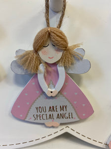 Guardian Angel small hanging plaque