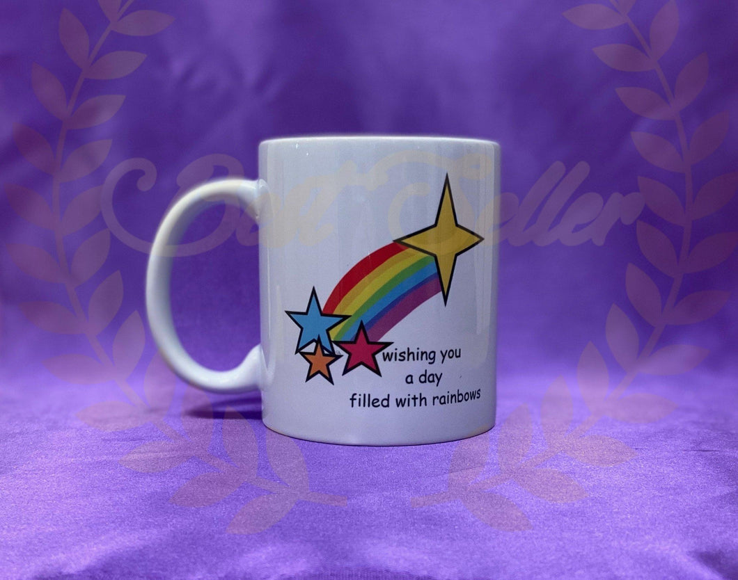 Rainbow stars Mug - Send to a Friend UK