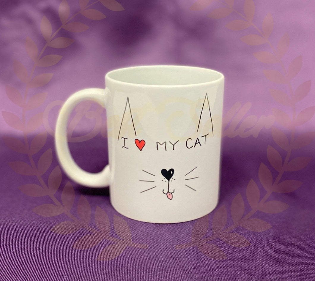 I love my cat Mug - Send to a Friend UK