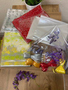 Gift Hamper & Cellophane wrap, tied up with ribbon Service - Send to a Friend UK