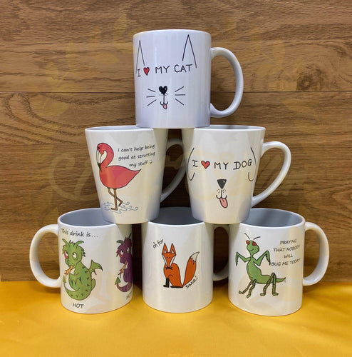 ANIMAL themed mugs personalised with a name - Send to a Friend UK