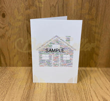 Load image into Gallery viewer, PERSONALISED WORD ART as A6 card UK POSTAGE INCLUDED - Send to a Friend UK