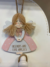 Load image into Gallery viewer, Guardian Angel small hanging plaque