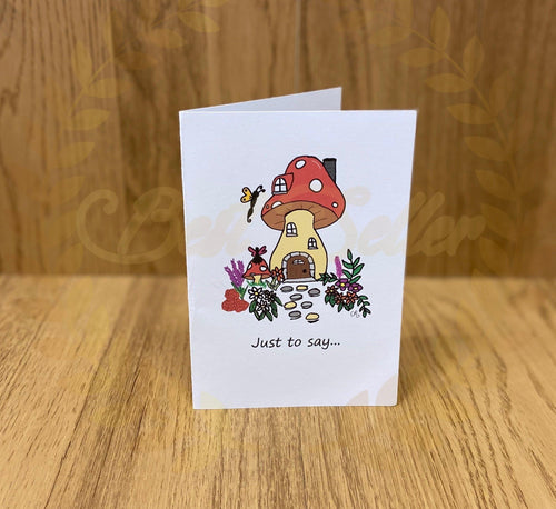 Toadstool greetings card - Send to a Friend UK