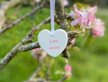 Load image into Gallery viewer, Affirmation Heart -  small dangly - Send to a Friend UK