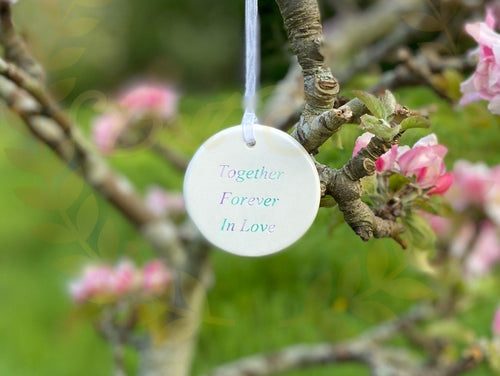 Affirmation hanging Orb - Send to a Friend UK