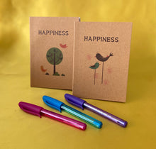 Load image into Gallery viewer, Happiness Notebook with mini pen - Send to a Friend UK