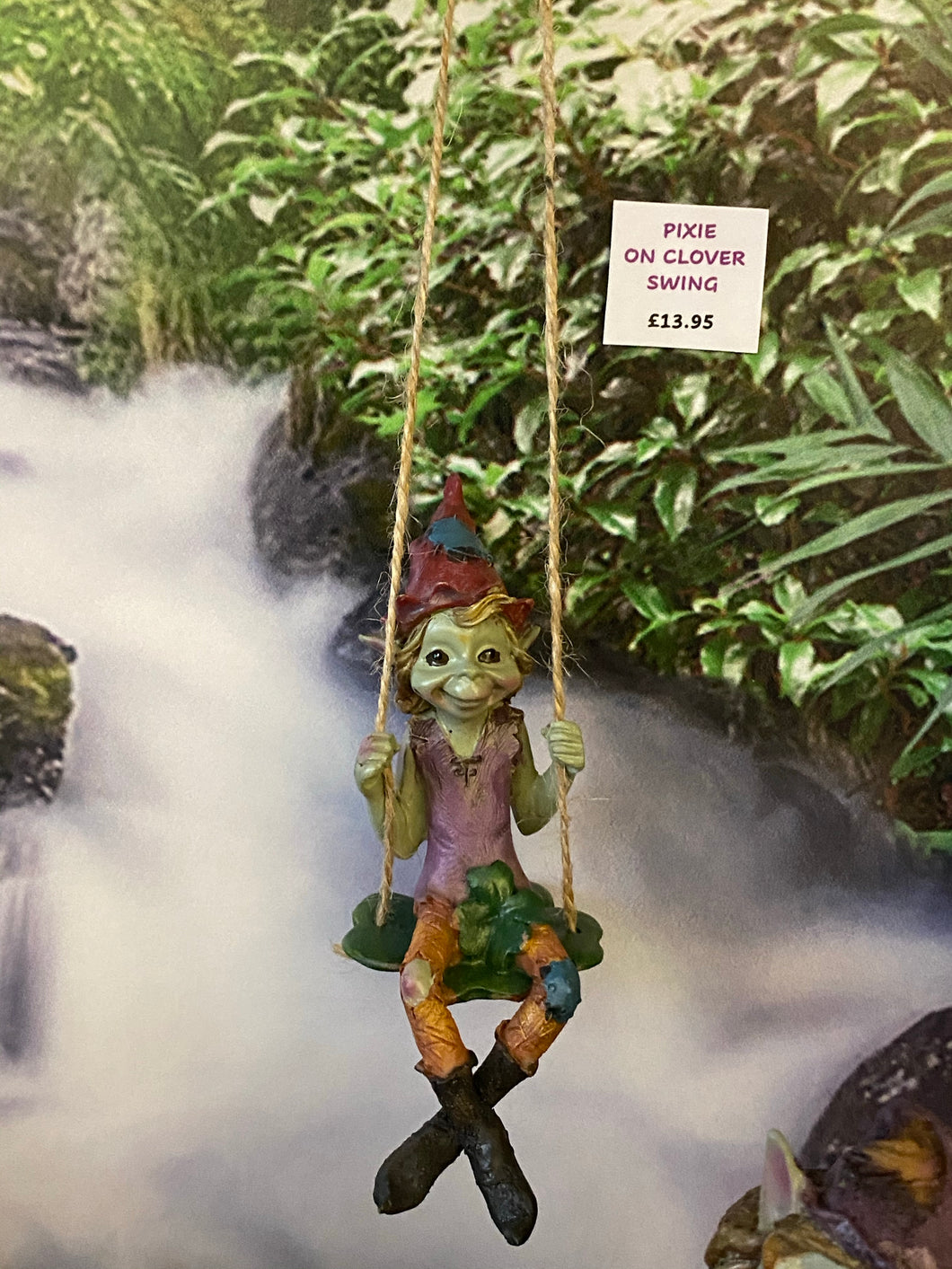 PIXIE on a swing - Send to a Friend UK