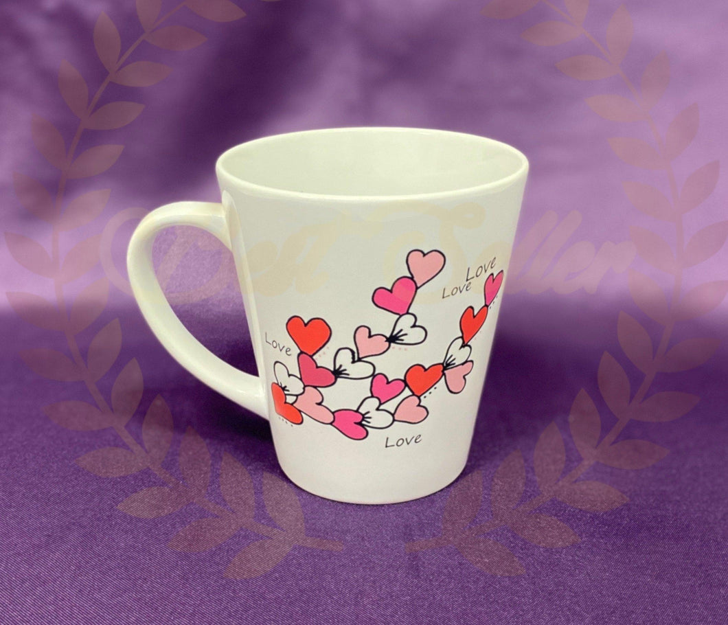 Hearts Cascading Mug - Send to a Friend UK