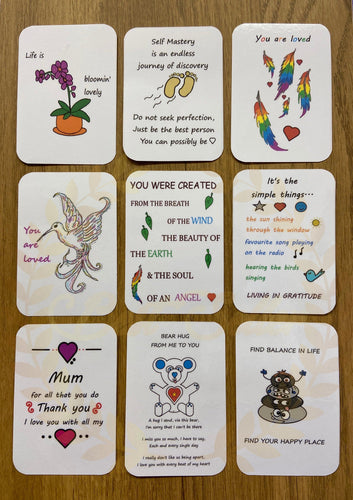 Friendship/ Positivity Card For purse or wallet UK FREE POSTAGE - Send to a Friend UK