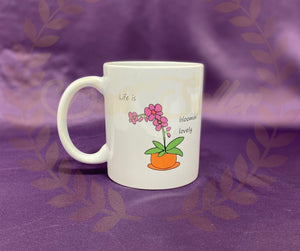 Orchid flower Mug - Send to a Friend UK