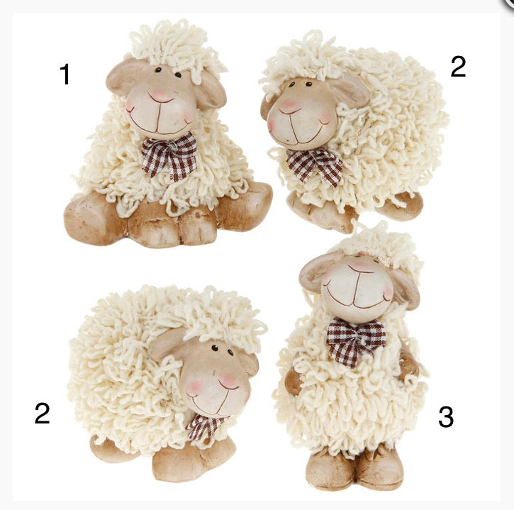 Fluffy Sheep ornament - Send to a Friend UK