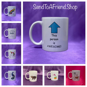 LIMITED TIME SPECIAL OFFER MUGS INCLUDES  UK POSTAGE - Send to a Friend UK