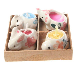 Animal Shaped Candles Pack of 4 - Send to a Friend UK