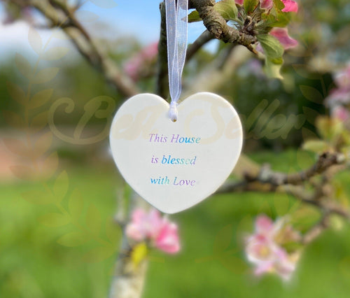 AFFIRMATION hanging larger HEART - Send to a Friend UK