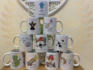 Mugs - uniquely designed by us UK POSTAGE INCLUDED - Send to a Friend UK