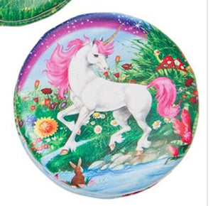 Unicorn handbag/pocket mirror (round)